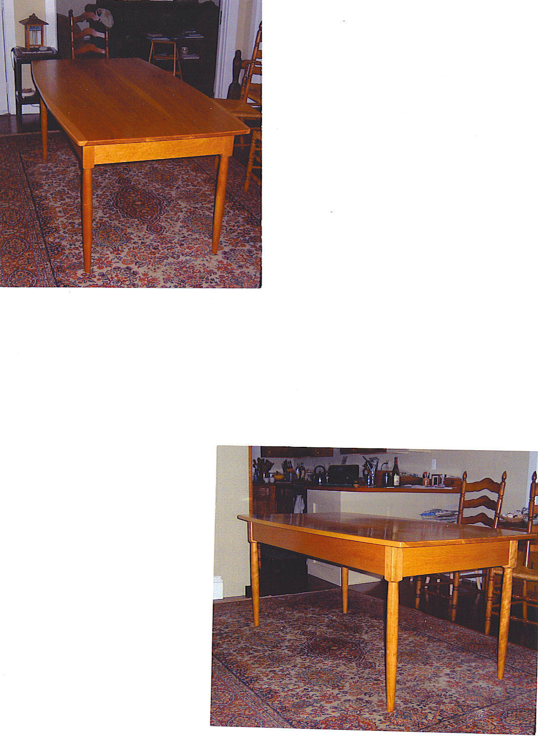 Cherry Curved Top Dining Table
