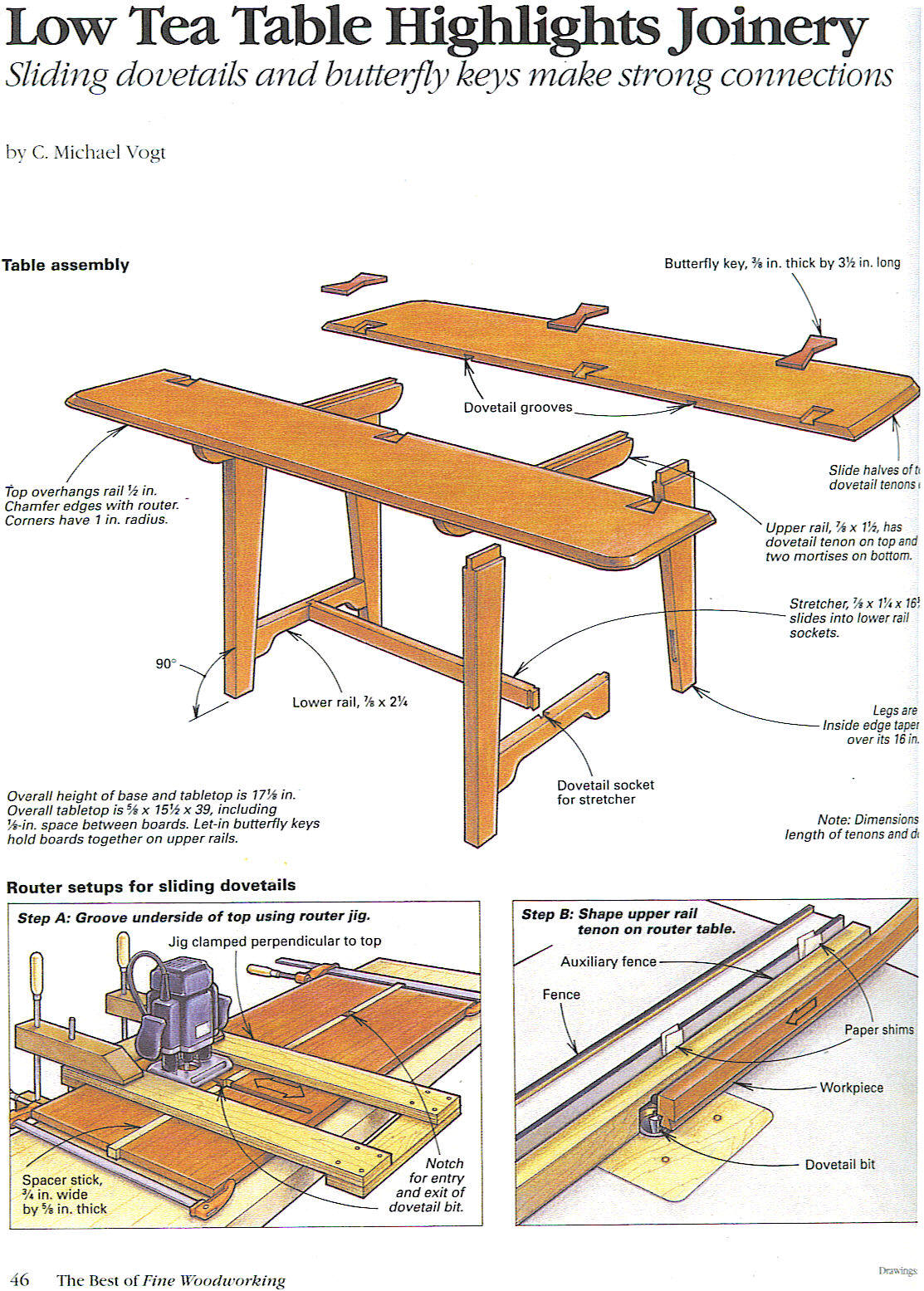 Low Tea Table Highlights Joinery