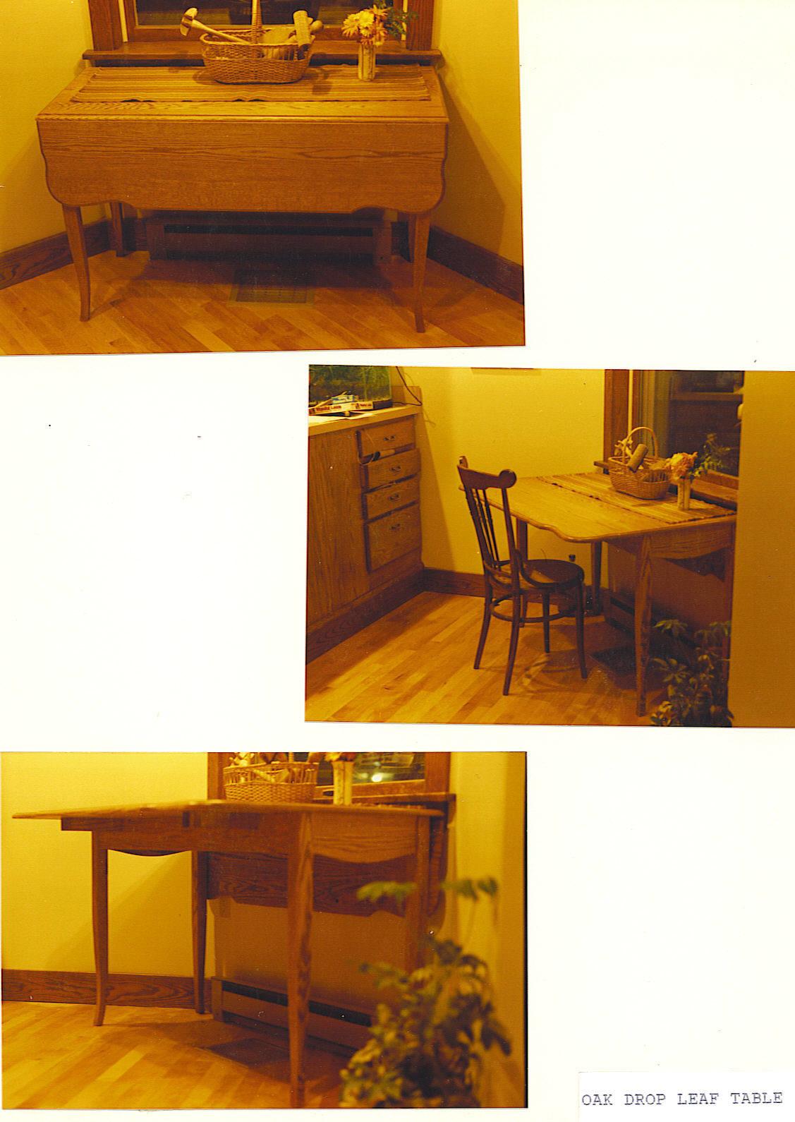 Oak Drop-Leaf Table