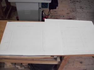Drawings of desk organizer
