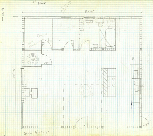 How To Draw A House Plan On Graph Paper