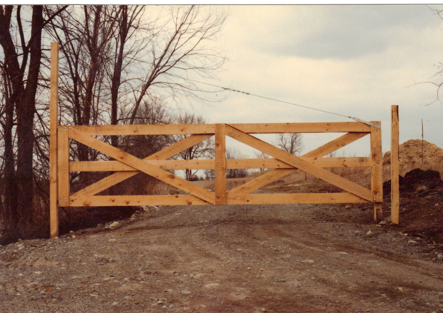 Woodworking from housebuilding green lumber for How to build a driveway gate