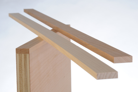 Solid edge banding glued to plywood  |